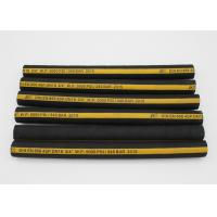 Buy cheap ID 1 / 4 ~ 2 4SP 4 Wire Hydraulic Hose Black Cloth Wrapped Cover from wholesalers