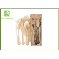 Buy cheap Branded Eco Friendly Dinnerware , Disposable Bamboo Cutlery For Picnic Non - Toxic from wholesalers