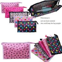 Buy cheap Promotional Nylon Dots Printed Travel Cosmetic Bags / Cosmetic Train Cases from wholesalers