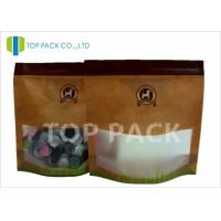 Buy cheap 200G Pet Food Packaging Matte Effect Stand Up Zipper Bags Matted Window product