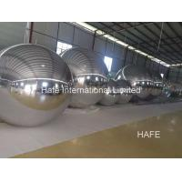 Buy cheap 6.5ft Mirror Inflatable Lighting Decoration Ball 2m Silver Color To Meeting Decoration from wholesalers