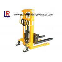 Buy cheap Manual Warehouse Material Handling Equipment Double Mast Structure Hydraulic Hand Stacker from wholesalers