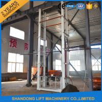 Buy cheap 1.5 tons 5 m Hydraulic Outside Guide Rail Vertical Cargo Lift for Building Warehouse from wholesalers