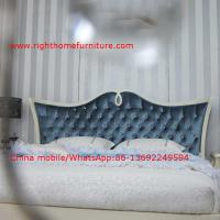 Buy cheap Neoclassical design Luxury Furniture Fabric Upholstery headboard King Bed with from wholesalers