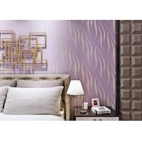 Buy cheap Elegant Purple Removable Wall Paper , Hotel Modern Wall Covering from wholesalers