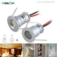 Buy cheap indoor led spotlight,DC3V/DC12V,IP65,1W,cut15mm,aluminum,recessed mounted,silver,super mini,use in kitchen,cabinet,stair from wholesalers