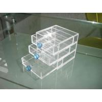 Buy cheap Acrylic Storage Boxes, PMMA Jewelry Drawer Box With Green Handle product