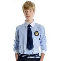 Buy cheap Light blue boys 100 cotton School Uniforms Shirt with long sleeve from wholesalers