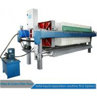 Buy cheap Automatic Program controlled  Hydraulic PP Filter Press Machine Price from wholesalers