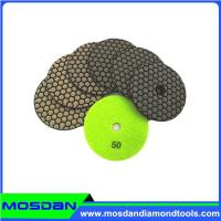 Buy cheap 4 inch dry granite polishing pads for angle grinder from wholesalers