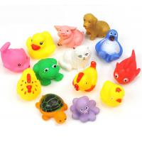 Buy cheap Floating Baby Rubber Bath Toys Animal Shape 12 Pcs Harmless Gifts For Children from wholesalers