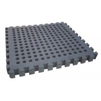 Buy cheap BLACK 60*60cm holes foam eva square rubber interlocking jigsaw from wholesalers