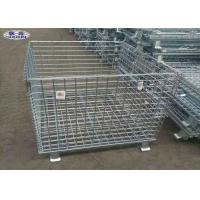 Buy cheap Warehouse Storage Steel Pallet Cages Galvanized Wire Mesh Butterfly Cage from wholesalers