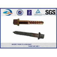 Buy cheap 40Mn2 20MnSi Fixing Railway Sleepers Square Head Screw Spike from wholesalers