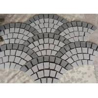 Buy cheap Fan Shape Decorative Landscaping Stone Granite Paving Stones With Net On The Back product