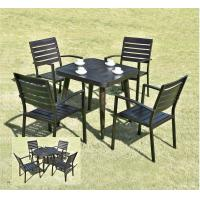 Buy cheap Waterproof Garden Metal Dining Set / Cast Aluminum Outdoor Furniture Table And Chair Set from wholesalers
