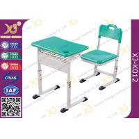 Buy cheap Classroom Single Modern Student School Desk And Chair Set With Aluminum Alloy Frame from wholesalers