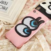 Buy cheap Soft Plaid PU Lovely Big Eyes Cell Phone Case Back Cover for iphone 7 7 plus 6s 6 plus from wholesalers