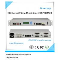 Buy cheap E1,100M,1000M,V.35,V.24,RS232,RS422,RS485 hotline multi-service PDH Mux with LCD SNMP Console network management from wholesalers