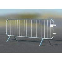 Buy cheap Steel Crowd Control Barriers Ireland  Detachable Feet Type With Galvanized Surface from wholesalers