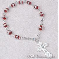 Buy cheap rosary bracelet,Wired Crystal Rosary Bracelet,religious cystal wrist rosary from wholesalers