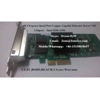 Buy cheap 1G Quad Port Copper Network cards,PCIe gigabit ethernet copper nic card,IntelI350-AM4 from wholesalers