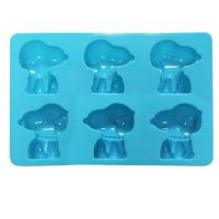 Buy cheap lovely dog shape Silicone Cake Moulds 6 cavity chocolate biscuit mold from wholesalers