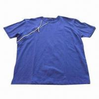 Buy cheap Men's T-shirt with decorative zipper from wholesalers