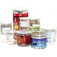 Buy cheap 500ml ODM Labeling Clear Plastic Cylinder Food Grade Canned Tubes from wholesalers