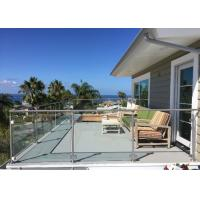 Buy cheap Tempered Glass Deck Railing Systems Outdoor Modern Glass Railing Design from wholesalers