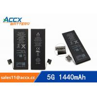 Buy cheap ACCX brand new high quality li-polymer internal mobile phone battery for IPhone 5G with high capacity of 1440mAh 3.7V from wholesalers
