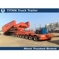 Buy cheap Customized Dimension Heavy Transportation Multi Axle Trailer 100 - 200 ton from wholesalers