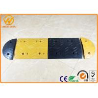 Buy cheap Parking Lots Yellow / Black Rubber Speed Bump Car Safety Road Concrete Speed Bumps from wholesalers