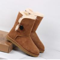 Buy cheap hot sales Leather snow boot,2014 UGG short BOOT,UGG Button Suede Ankle Boots for women from wholesalers