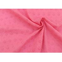 Buy cheap OEM Embroidery Eyelet Cotton Dying Lace Fabric With Floral Circle Pattern For Top product