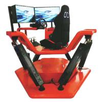 Buy cheap 6DOF electric car driving simulator, racing simulator with three screens from wholesalers