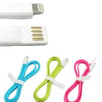 Buy cheap Magnetic Flat 8 pin usb phone charger cable Sync Charging Data wire from wholesalers