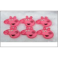 Buy cheap 100 pcs Resin Craft Peppa Pig Cartoon Flat Back Resin Gift Decoration from wholesalers