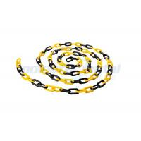 Buy cheap 8 MM Diameter Traffic Cone Plastic Chain Link With Black Yellow Color from wholesalers