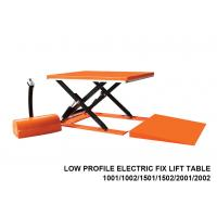 Buy cheap 1000 Kg Capacity Low Profile Lift Table , Hydraulic Scissor Lift Table Cart from wholesalers