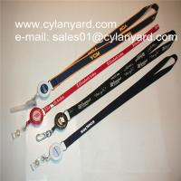 Buy cheap Id badge neckstrap with epoxy dome retractable pull reel, from wholesalers
