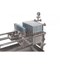 Quality Small Size Stainless Steel Manual Plate and Frame Filter Press for sale