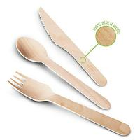 Buy cheap Eco-Friendly Disposable Wooden Bamboo Cutlery Set With Knives Forks Spoons Utensil Sets from wholesalers