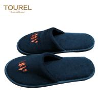 Buy cheap Black Closed Toe Disposable Hotel Slippers Unisex Anti-slip Velevt Velour from wholesalers