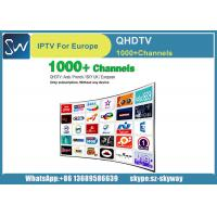 Buy cheap QHDTV Iptv Account 1 year Free 1300 HD Channels for MAG 250 IPTV TV Box from wholesalers