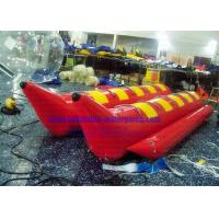 Buy cheap 10 Person 0.9mm PVC Inflatable Boats Red Color 70x50x50 CM Packing from wholesalers