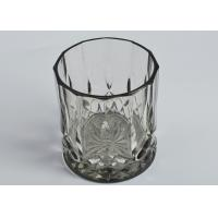 Buy cheap 12OZ Wax Luxury Black Glass Candle Jar Glass Tealight Candle Holders from wholesalers