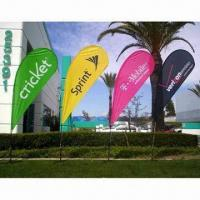 Buy cheap Flying Flag Banner Display with Single/Double Sides and Up to 1.8m Width from wholesalers