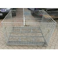 Buy cheap Industrail Wire Mesh Pallet Cages , Warehouse Folding Wire Mesh Storage Boxes from wholesalers