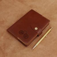 Buy cheap Lined Travel Journal Notebook / Personalised Leather Diary With Buckles from wholesalers